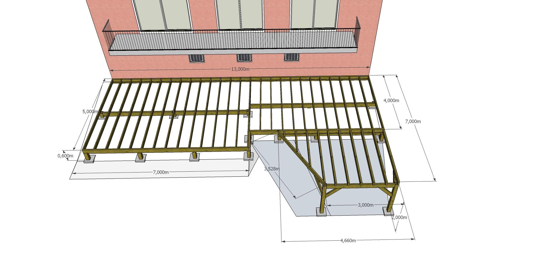 Dessin 3 D terrasse