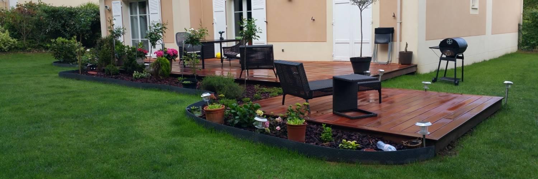 Amenagement paysager et terrasse